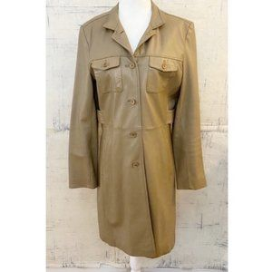 Kenneth Cole Reaction Tan Genuine Leather Coat